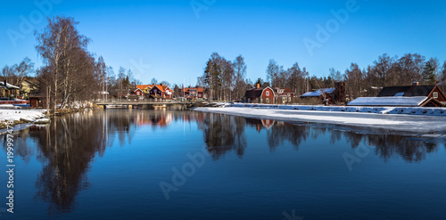 Papiers peints Arctique Sundborn - March 30, 2018: Panorama of the picturesque town of Sundborn in Dalarna, Sweden