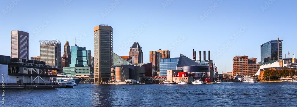 Fototapety, obrazy: Baltimore Downtown Skyline Panorama