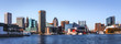 Leinwandbild Motiv Baltimore Downtown Skyline Panorama