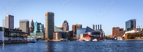 Pinturas sobre lienzo  Baltimore Downtown Skyline Panorama