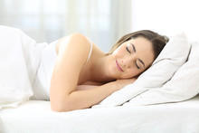Satisfied Woman Sleeping In A ...