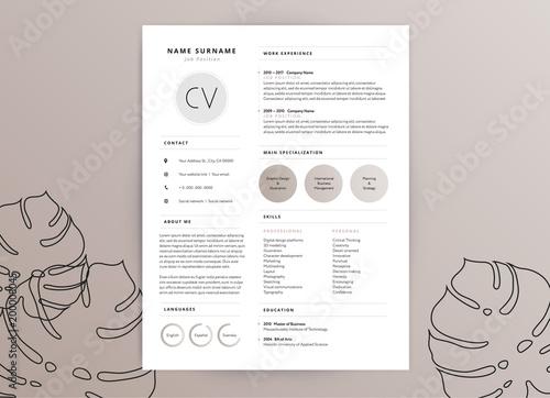 elegant feminine cv resume template