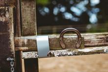 Horseshoe Fixed On Fence