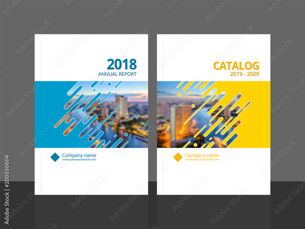 Fototapeta   Cover design template corporate business annual report brochure poster company profile catalog magazine flyer booklet leaflet. Cover page design element A4 sample image with Gradient Mesh.