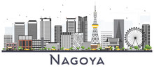 Nagoya Japan City Skyline With...