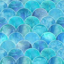 Fish Scale Wave Japanese Seamless Pattern