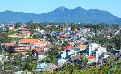 Poster Kaki Aerial view of Dalat, Vietnam