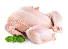 Fresh Raw Chicken And Basil Is...