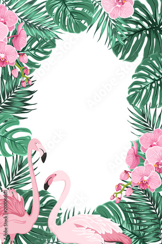 e9bcf015cae Tropical jungle rainforest green palm tree monstera leaves