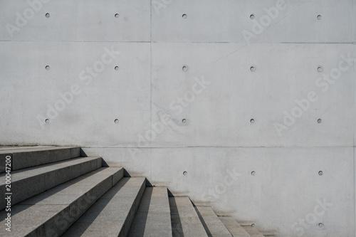 schody zewnętrzne i betonowe tło - schody, budynek z zewnątrz