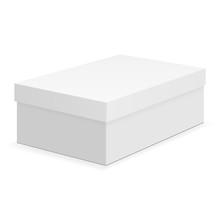 Shoe Box Mock Up Isolated On White Background. Vector Illustration