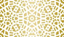 Abstract Geometric Pattern. Golden Texture. Kaleidoscope.