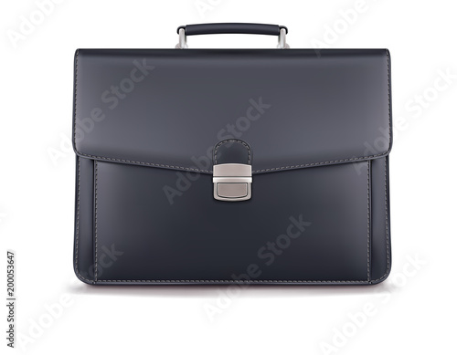 Photo Briefcase for documents isolated on white