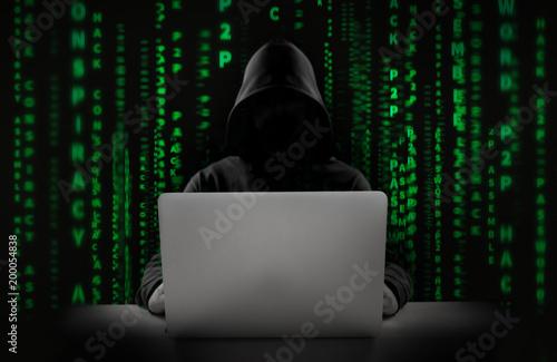 Fototapety, obrazy: Hacker at work