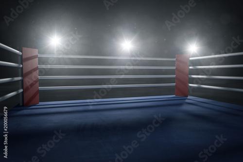 Deurstickers Vechtsport Boxring bei Gegenlicht