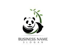 Cute Panda Logo Vector Illustr...