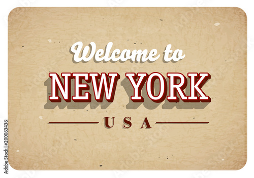 Welcome to new york vintage greeting card buy this stock vector welcome to new york vintage greeting card m4hsunfo