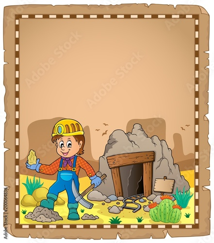 For Kids Miner theme parchment 2