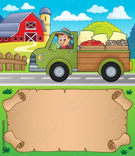 For Kids Small parchment and farm truck