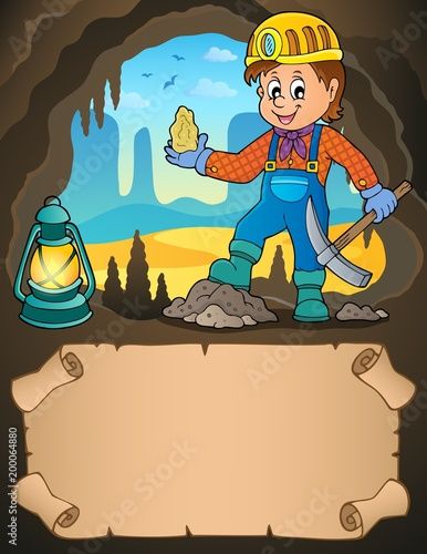For Kids Small parchment and miner with ore