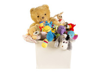 Collection Of Plush Toys In Wh...