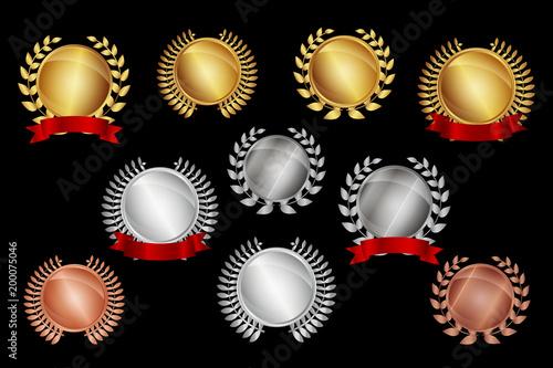 Poster Jubiläum Set - Medaillen gold silber bronze