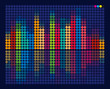 Musical Equalizer from Color Circles. Vector