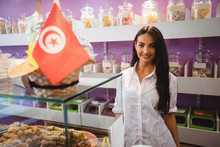 Portrait Of Female Shopkeeper ...