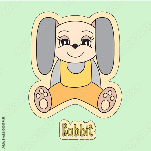Fotografia  Rabbit, cartoon hare, symbol of the Chinese horoscope 2023 year