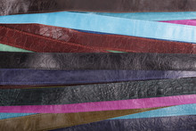 Background - Colored Leather Belts.