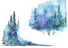 Watercolor Landscape, Picture....