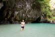 Tourist in Thailand Emerald Cave