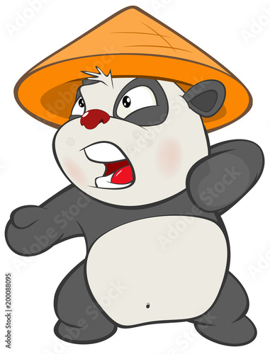 Deurstickers Babykamer Illustration of a Cute Panda. Cartoon Character