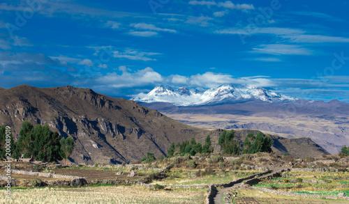 Foto op Plexiglas Zuid Afrika landscape in mountains. Peru.