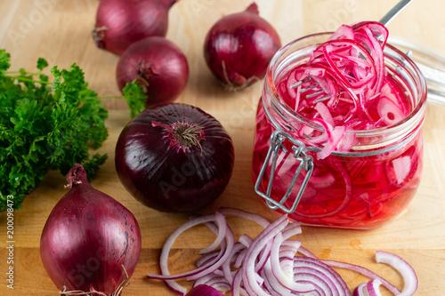 Fototapeta Pickled Red Onion obraz