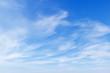 Leinwandbild Motiv beautiful blue sky with white Cirrus clouds