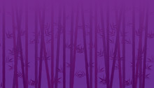 Bamboo Background Purple Tone. Vector Illustration