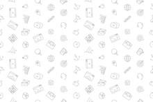 Vector Marketing Pattern. Marketing Seamless Background