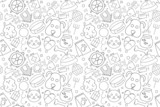 Vector pet pattern. Pet seamless background