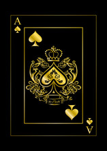 The Spades Ace Gold