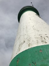 Lighthouse, Green, Clouds, Acc...