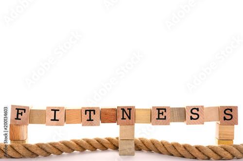 Fotografie, Obraz  Fitness Word Concept