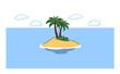 canvas print picture - Einsame Insel als Paradies für Urlaub