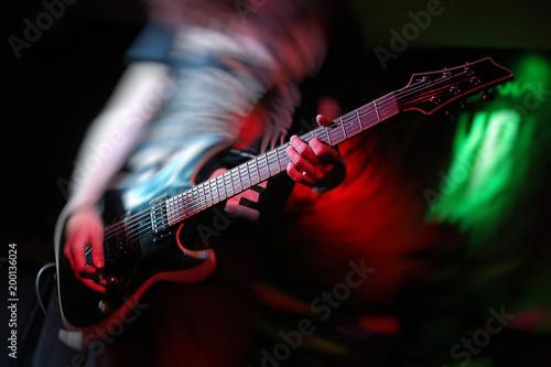 Montage in der Fensternische Musikladen guitar rock music