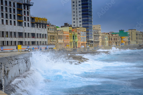 Recess Fitting Havana storm on the waterfront in Havana, Cuba