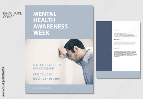 Mental Health Awareness Brochure Layout Buy This Stock Template And