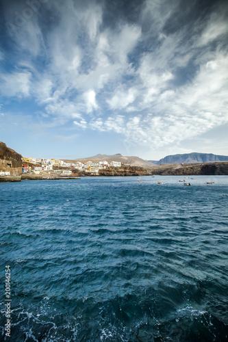 Deurstickers Canarische Eilanden View on Puerto de Sardina, Gran Canaria, Canary Islands