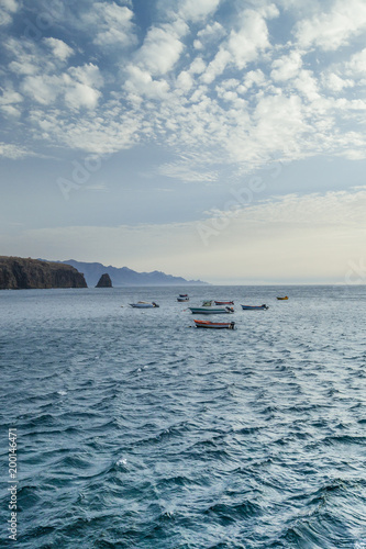 Foto op Canvas Canarische Eilanden View on Puerto de Sardina, Gran Canaria, Canary Islands