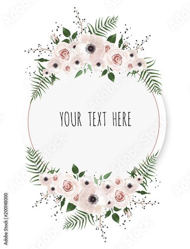 Vector floral design card Wallpaper Mural