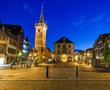 Obernai town, at night, Bas-Rhin, in Alsace region, France